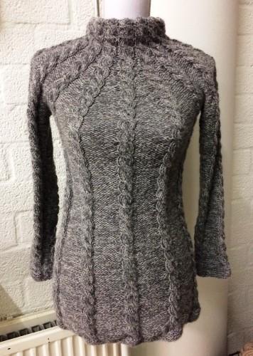 Alpaca cable sweater